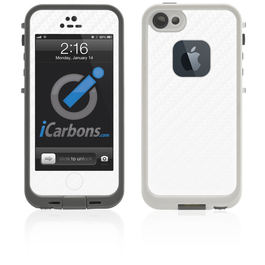 LifeProof Case iPhone 5 Skin - White Carbon Fiber - iCarbons