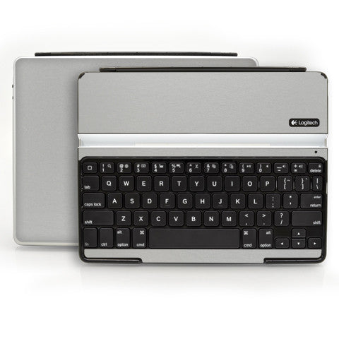 Logitech Ultrathin Keyboard Cover (iPad 2, 3rd&4th Gen.) - Brushed Aluminum - iCarbons - 1