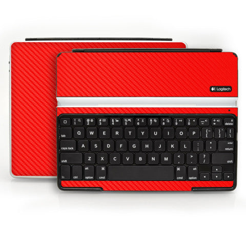 Logitech Ultrathin Keyboard Cover (iPad 2, 3rd&4th Gen.) - Red Carbon Fiber - iCarbons - 1
