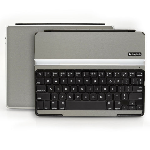 Logitech Ultrathin Keyboard Cover (iPad 2, 3rd&4th Gen.) - Brushed Titanium - iCarbons - 1