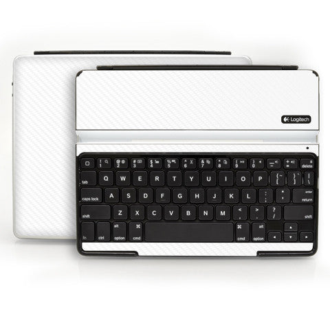 Logitech Ultrathin Keyboard Cover (iPad 2, 3rd&4th Gen.) - White Carbon Fiber - iCarbons - 1
