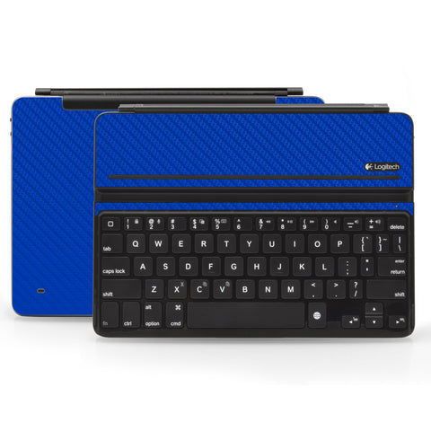 Logitech Ultrathin AIR Keyboard Cover - Blue Carbon Fiber - iCarbons