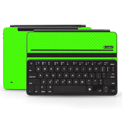 Logitech Ultrathin AIR Keyboard Cover - Green Carbon Fiber - iCarbons