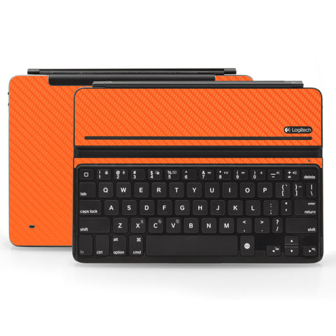 Logitech Ultrathin AIR Keyboard Cover - Orange Carbon Fiber - iCarbons