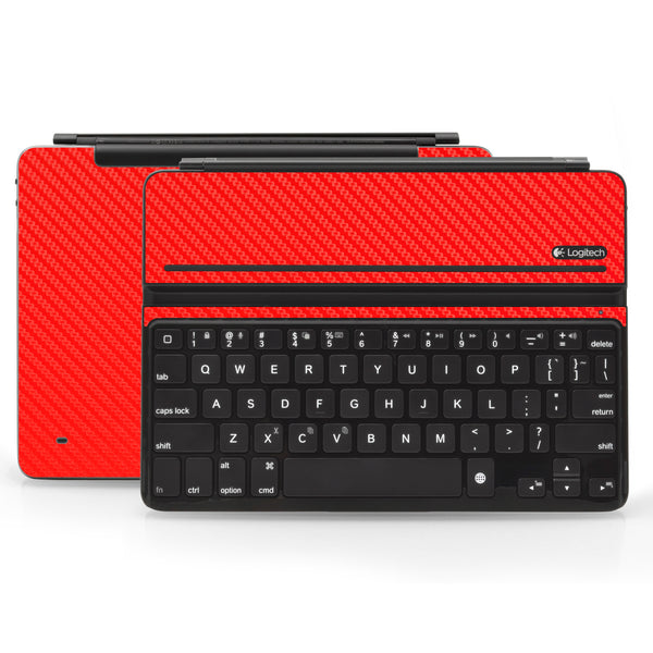 Logitech Ultrathin AIR Keyboard Cover - Red Carbon Fiber - iCarbons
