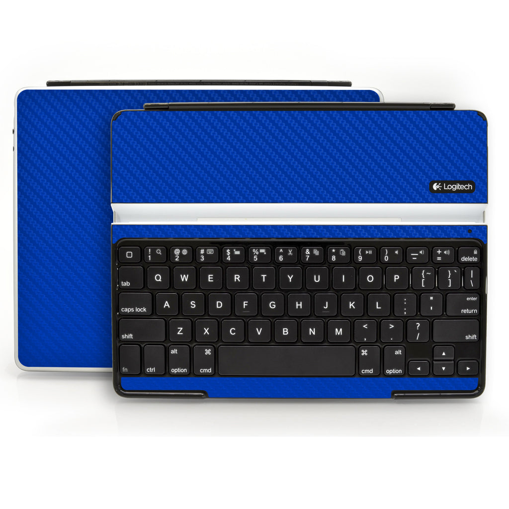 Logitech Ultrathin Keyboard Cover (iPad 2, 3rd&4th Gen.) - Blue Carbon Fiber - iCarbons - 1
