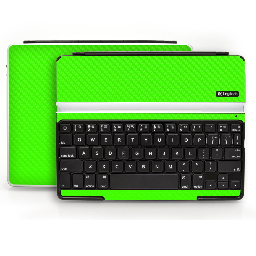 Logitech Ultrathin Keyboard Cover (iPad 2, 3rd&4th Gen.) - Green Carbon Fiber - iCarbons - 1