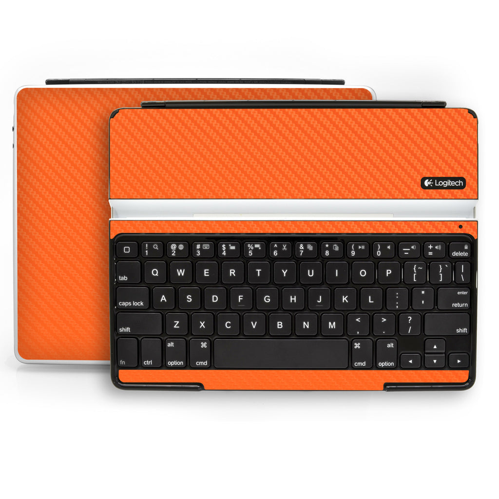 Logitech Ultrathin Keyboard Cover (iPad 2, 3rd&4th Gen.) - Orange Carbon Fiber - iCarbons