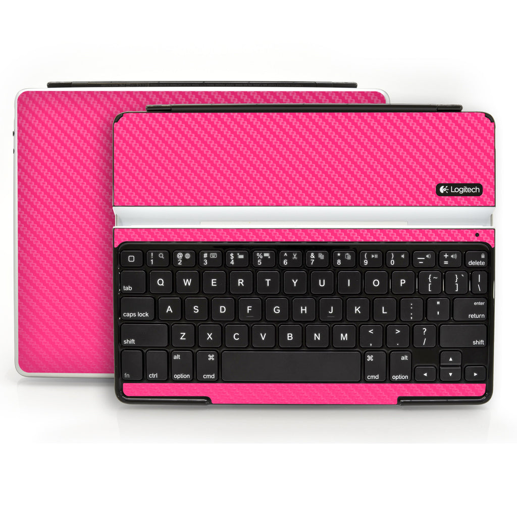 Logitech Ultrathin Keyboard Cover (iPad 2, 3rd&4th Gen.) - Pink Carbon Fiber - iCarbons - 1