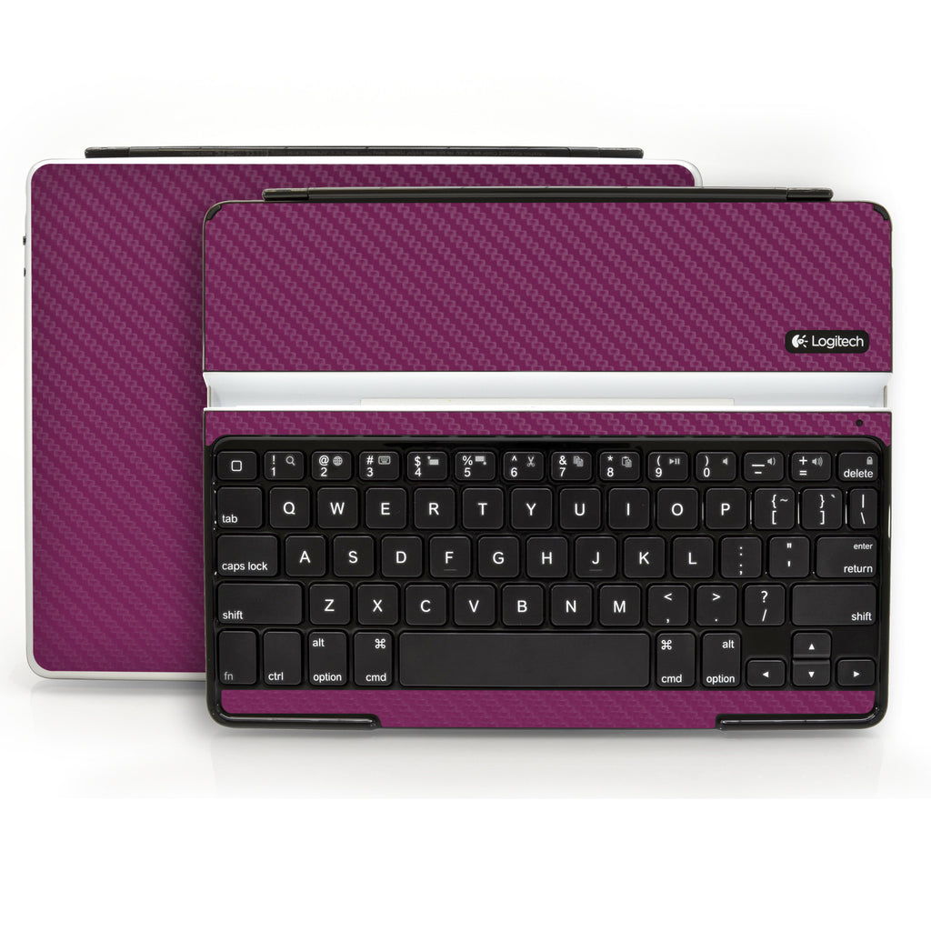 Logitech Ultrathin Keyboard Cover (iPad 2, 3rd&4th Gen.) - Purple Carbon Fiber - iCarbons - 1