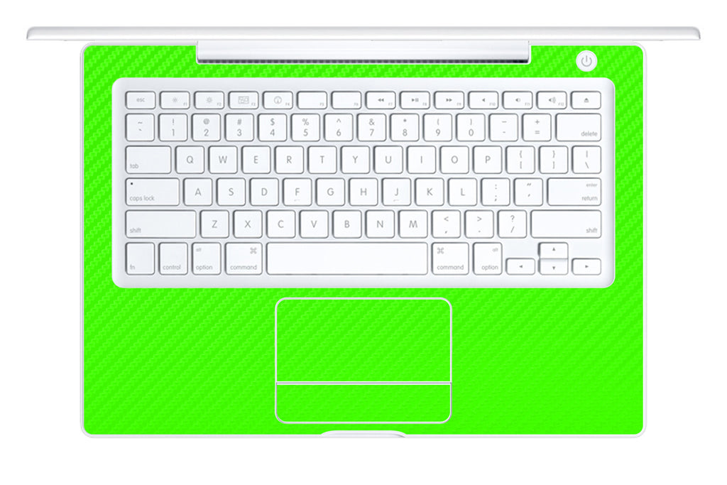 "Macbook 13"" 2006-2009 Polycarbonate - Green Carbon Fiber - iCarbons - 1"