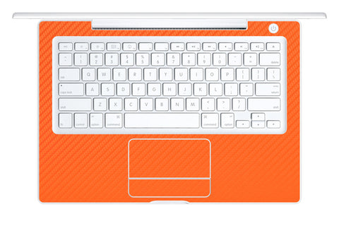 "Macbook 13"" 2006-2009 Polycarbonate - Orange Carbon Fiber - iCarbons - 1"