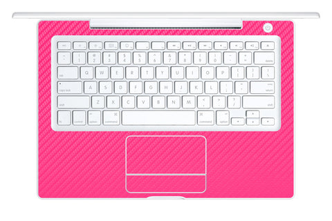 "Macbook 13"" 2006-2009 Polycarbonate - Pink Carbon Fiber - iCarbons - 1"