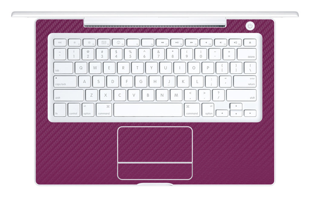 "Macbook 13"" 2006-2009 Polycarbonate - Purple Carbon Fiber - iCarbons - 1"