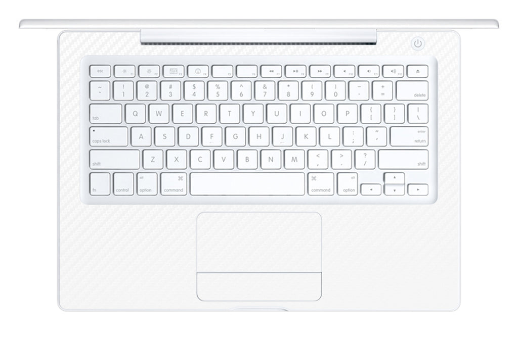 "Macbook 13"" 2006-2009 Polycarbonate - White Carbon Fiber - iCarbons - 1"