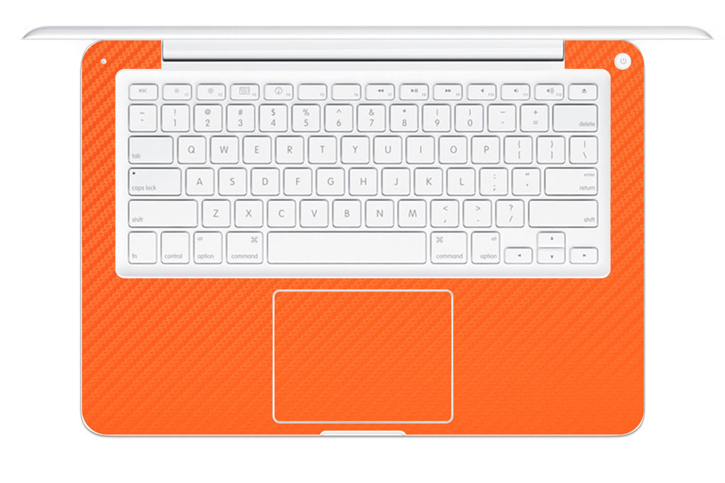 "Macbook 13"" 2009-2011 Polycarbonate - Orange Carbon Fiber - iCarbons - 1"
