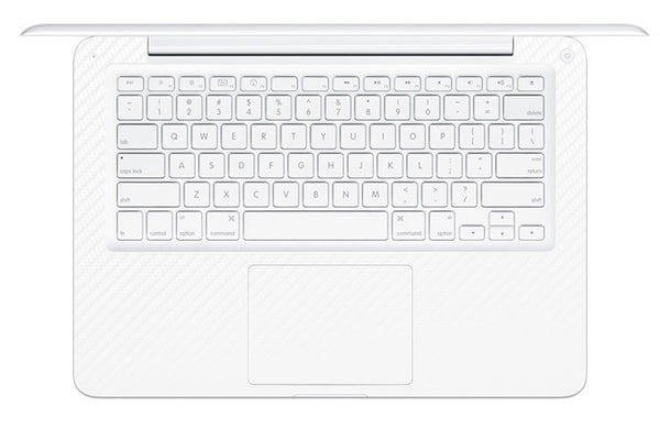 "Macbook 13"" 2009-2011 Polycarbonate - White Carbon Fiber - iCarbons - 1"