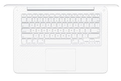 "Macbook 13"" 2009-2011 Polycarbonate - White Carbon Fiber"