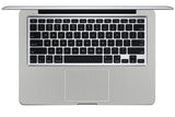 "Macbook 13"" Late 2008 Silver Unibody Skins - Brushed Metal - iCarbons - 4"