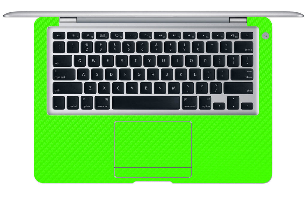 "Macbook Air (1st Gen) 13"" - Green Carbon Fiber - iCarbons - 1"