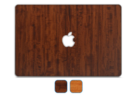 "Macbook 13"" Late 2008 Silver Unibody Skins - Wood Grain - iCarbons - 1"