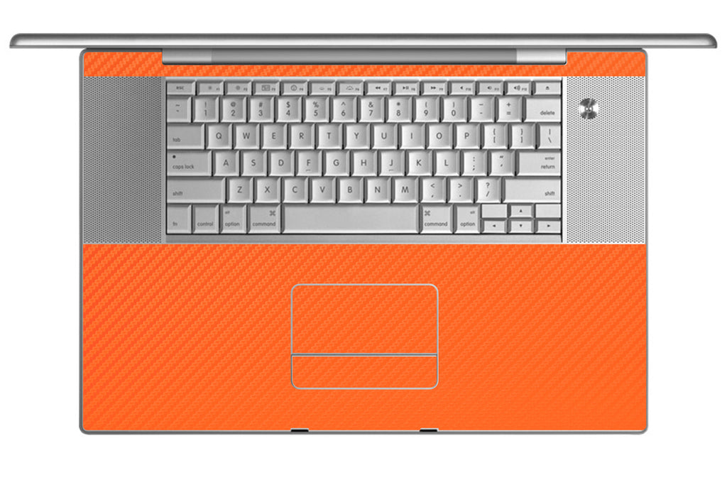 "MacBook Pro 17"" (1st Gen) - Orange Carbon Fiber - iCarbons - 1"