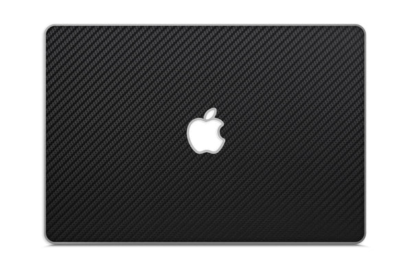 "Macbook 13"" Late 2008 Silver Unibody Skins - Carbon Fiber - iCarbons - 2"