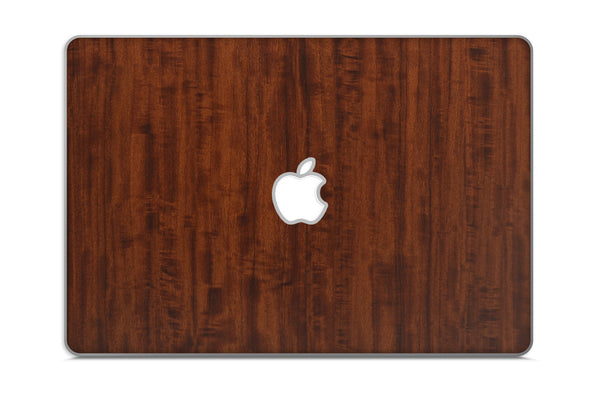 "Macbook 13"" Late 2008 Silver Unibody Skins - Wood Grain - iCarbons - 2"