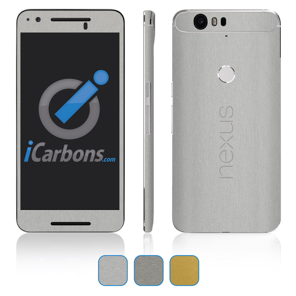 Nexus 6P Skins - Brushed Metal - iCarbons - 1