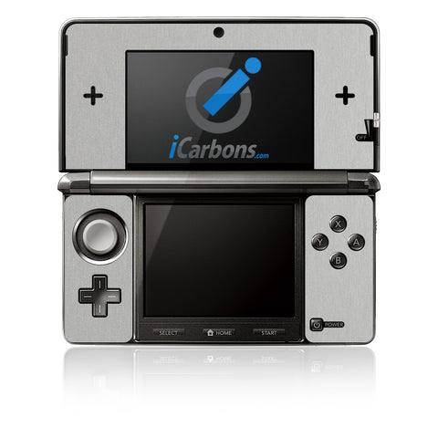 Nintendo 3DS - Brushed Aluminum - iCarbons - 1