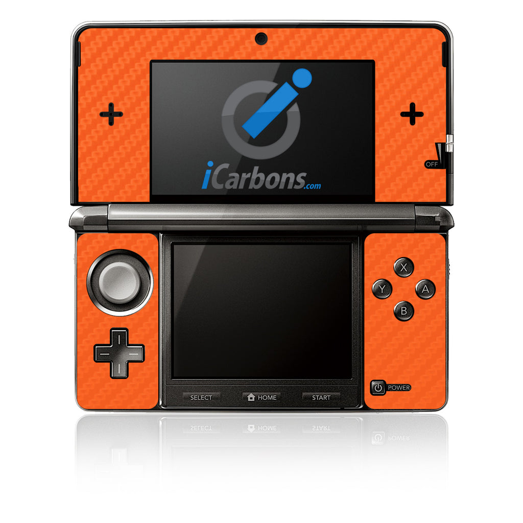 Nintendo 3DS - Orange Carbon Fiber - iCarbons - 1