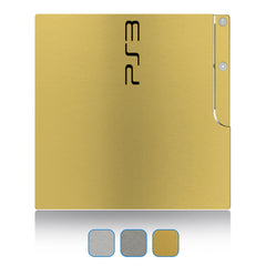 Playstation 3 Slim Skins - Brushed Metal