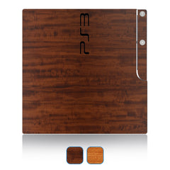 Playstation 3 Slim Skins - Wood Grain