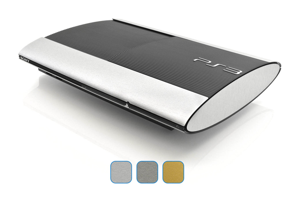 PS3 Super Slim Skins - Brushed Metal - iCarbons - 1