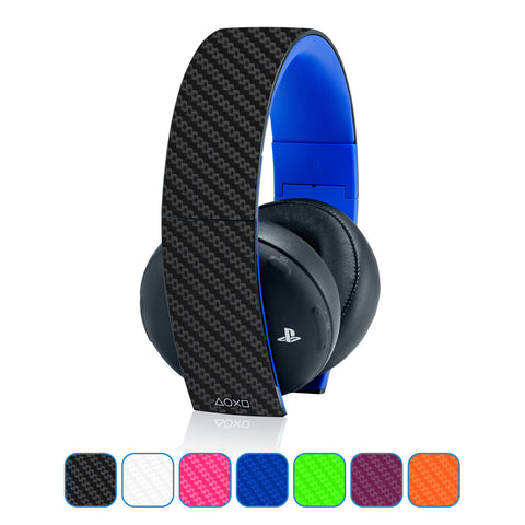 Playstation Gold Wireless Headset Skins - Carbon Fiber - iCarbons - 1