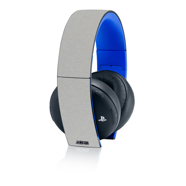 Playstation Gold Wireless Headset Skins - Brushed Metal - iCarbons - 2