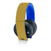 Playstation Gold Wireless Headset Skins - Brushed Metal - iCarbons - 4