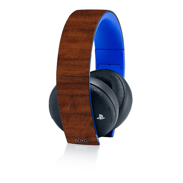 Playstation Gold Wireless Headset Skins - Wood Grain - iCarbons - 2