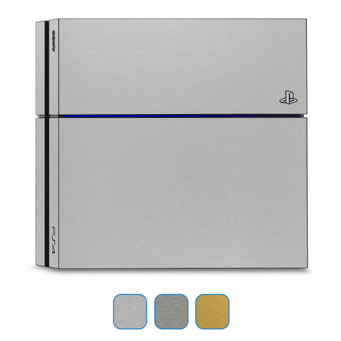 Playstation 4 Skins - Brushed Metal - iCarbons - 1
