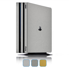 Playstation 4 Pro Skins - Brushed Metal