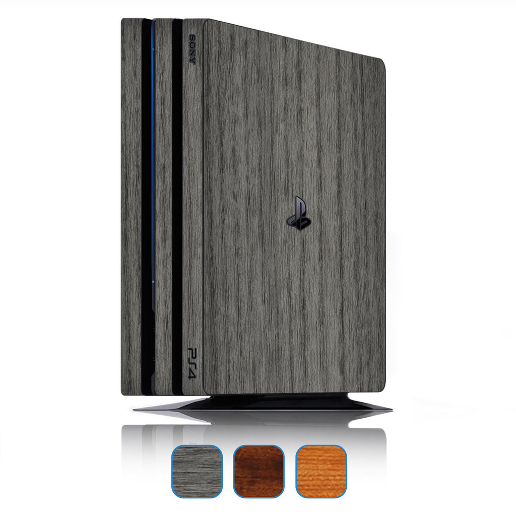 Playstation 4 Pro Skins - Wood Grain - iCarbons - 1