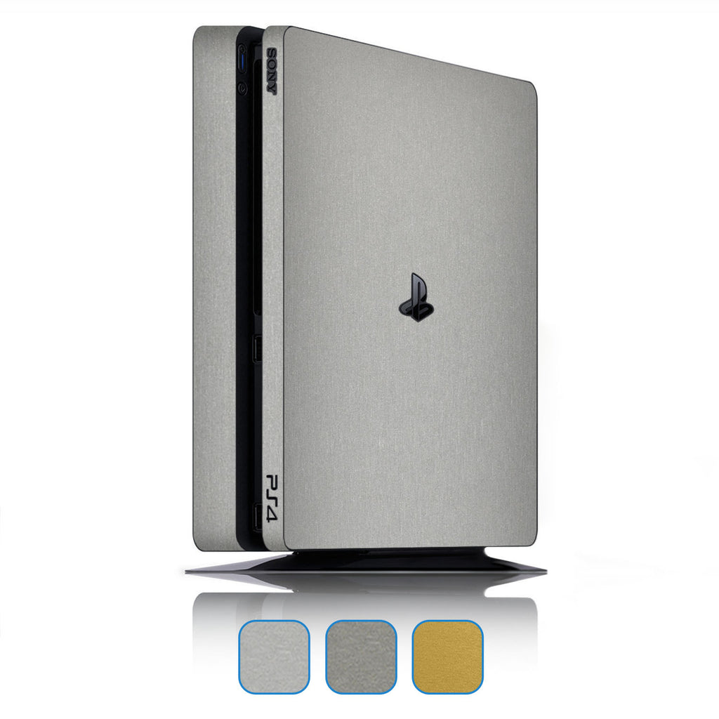 Playstation 4 Slim Skins - Brushed Metal - iCarbons - 1