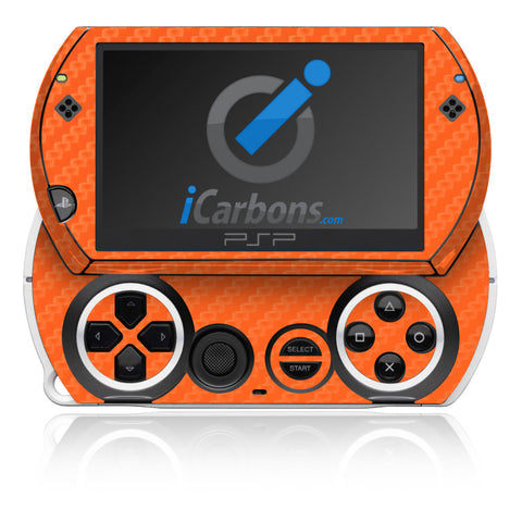 PSP Go - Orange Carbon Fiber - iCarbons