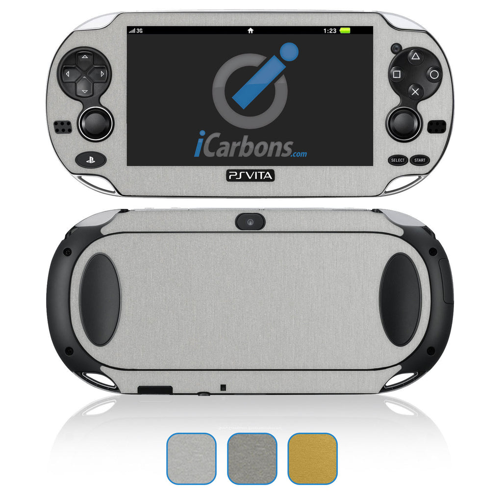 PS Vita Skins - Brushed Metal - iCarbons - 1