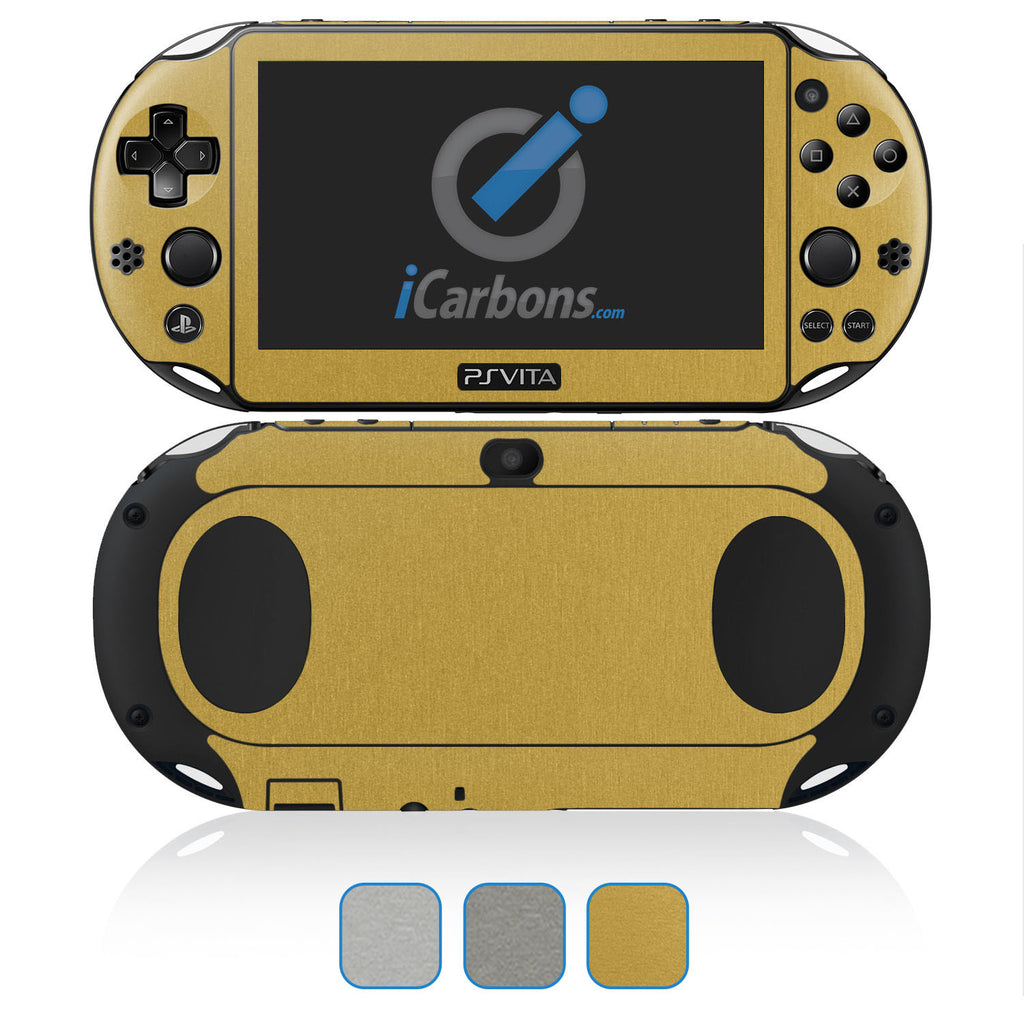 PS Vita SLIM (2000) Skins - Brushed Metal - iCarbons - 1