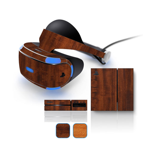 Playstation VR Skins - Wood Grain - iCarbons - 1