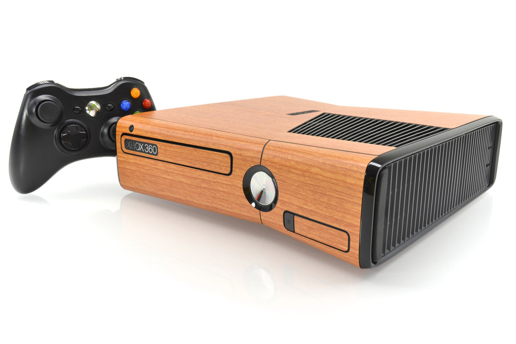 make your xbox 360 slim in dark wood with a premium. Black Bedroom Furniture Sets. Home Design Ideas