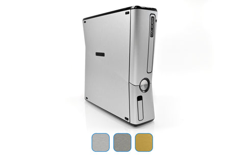 Xbox 360 Slim Skins - Brushed Metal - iCarbons - 1