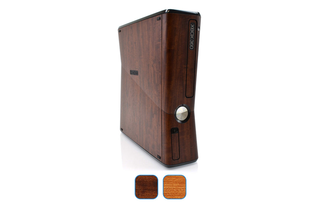 Xbox 360 Slim Skins - Wood Grain - iCarbons - 1
