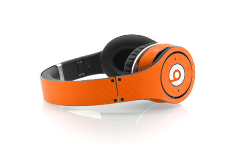 Beats Studio Skin - Orange Carbon Fiber - iCarbons